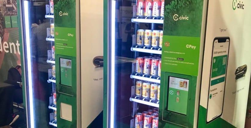 ブロックチェーンで年齢確認→仮想通貨で購入するビール自販機。SXSWで初運用
