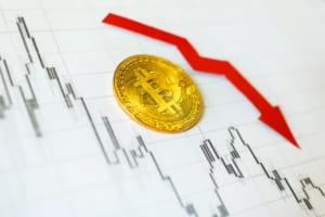 ビットコイン、100万円割れ──4月からの上昇トレンド、弱気に転じる