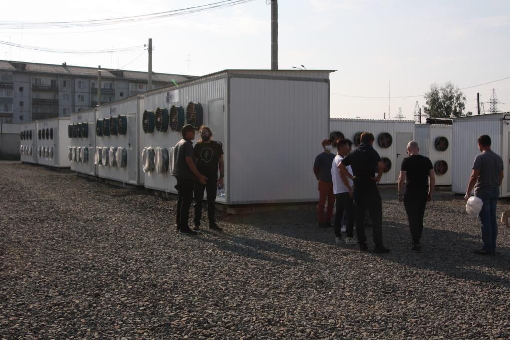 ブラーツクにあるマイナリーのマイニング施設