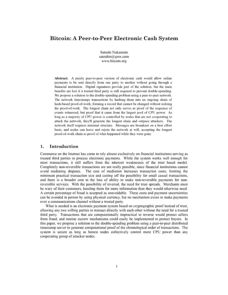 ビットコインに関する論文