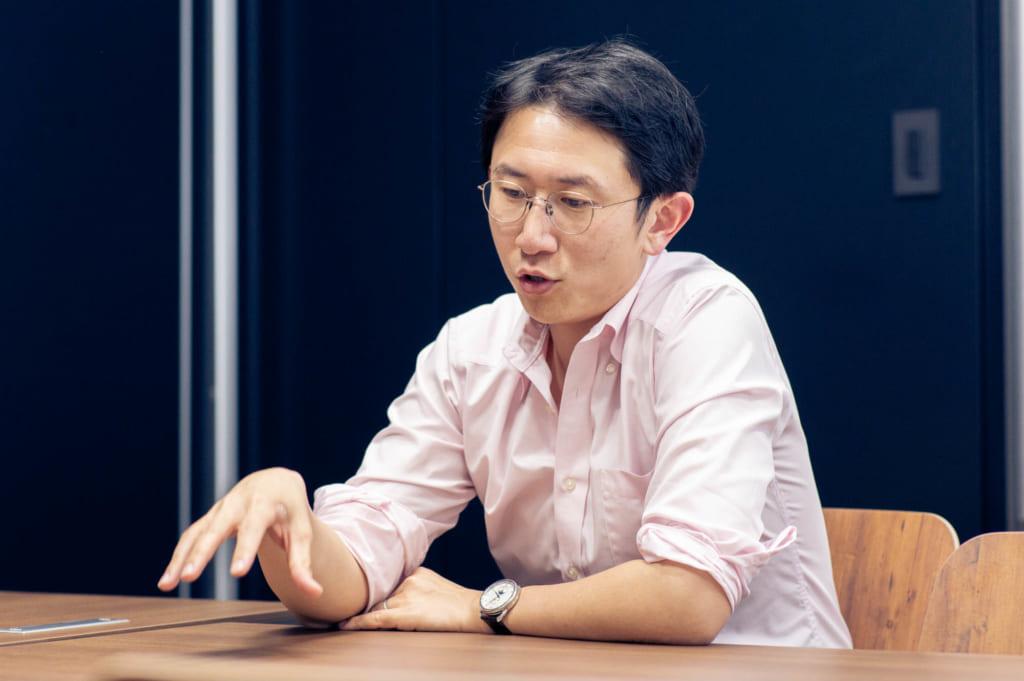 林良太CEO,Finatext,撮影:森口新太郎