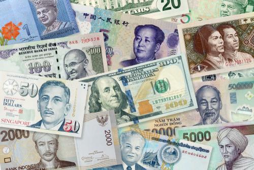 FX通貨ペアの数を外国紙幣で表現
