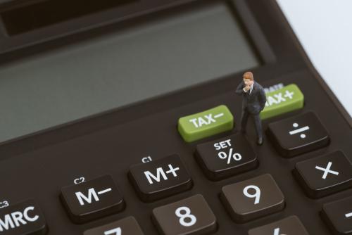 電卓の税金表示