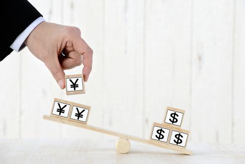 FXのドル円相場変動を象徴