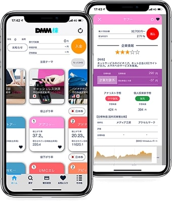 DMM株 スマホアプリ かんたんモード