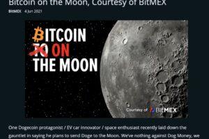 BitMEX、1ビットコインを月に送る計画──「to the moon」構想が現実に